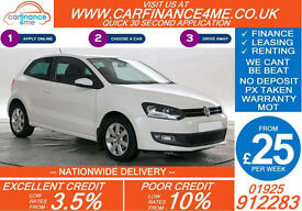 2011 VW POLO 1.2 TDI MATCH GOOD / BAD CREDIT CAR FINANCE FROM 25 P/WK