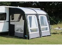 Kampa Rally pro 260 plus matching windbreak , roof lining, storm poles