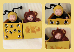 Anne Geddes Baby Bee & Bear in Box (Lot of 2)