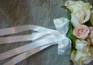 Blush Pink & White Wedding Bouquet Flowers. London Ontario image 3