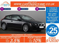 2009 VOLVO C30 1.6D LUX GOOD / BAD CREDIT CAR FINANCE FROM 25 P/WK
