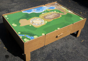 Kids Play Table With Drawers