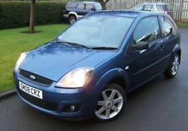 Ford Fiesta 1.25 Zetec Blue 3dr 2008 08 plate with 68k miles