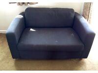 Habitat fabric sofa / single sofa bed