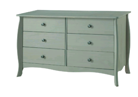 French Style 3+3 Drawer Wide Chest