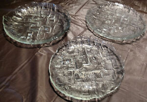Set of 4 Sklo Union Czechoslovakia 'Mesto' Plates