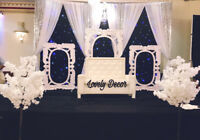 "Wedding decoration by ""lovely decor Brampton ""647 339 4710"