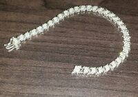 ELEGANT 10K WHITE GOLD 198 DIAMONDS BRACELET !