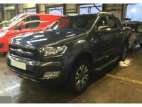 2017 GREY FORD RANGER 3.2 TDCI 200 WILDTRACK 4WD CREW CAB CAR FINANCE FROM 88 PW