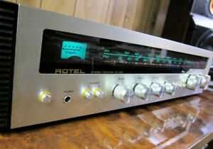CLASSIC ROTEL RX-202 STEREO RECEIVER * SERVICED, LED LIGHTS