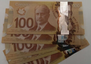 Sequential $100 Dollar bills - ending with 9899999! Windsor Region Ontario image 2