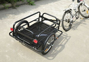 Bicycle Cargo Trailer Utility Bike Cart Carrier Garden Patio Too