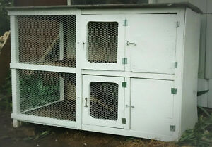 Solid Outdoor Rabbit Cage!