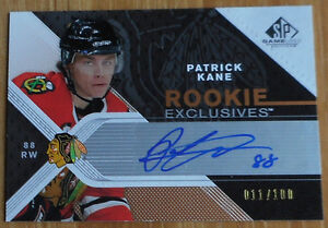 Patrick Kane ,2007-08 ,SP Game Used,Rookie Exclusives Autographs Gatineau Ottawa / Gatineau Area image 1