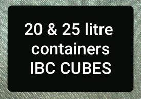 IBC CUBES CUBES DRUMS PLASTIC WATER CONTAINERS JARS TANKS BARRELS