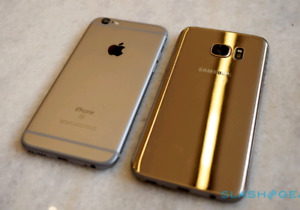 (Rare)Gold Galaxy S7 Edge Unlocked *TRADE FOR* iPhone 6S Plus!