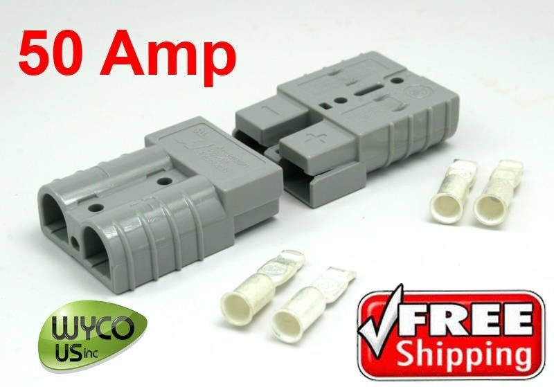 TWO PLUGS W/CONTACTS, 36V, SMALL GRAY, REPL TENNANT 24881,130155, 130155, 89647