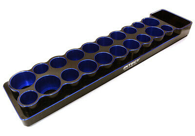 C27123BLUE Universal 20 Slots Tool Base 14, 16, 18 & 22mm w/ Magnetic Tray Magnetic Base Slotted