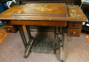 Singer Treadle sewing machine and cabinet