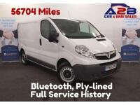 2013 63 VAUXHALL VIVARO 2.0 CDTI 90 BHP BLUETOOTH CONNECTIVITY, LOW MILEAGE, ON