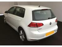 2016 WHITE VW GOLF 1.6 TDI 110 MATCH EDT DIESEL 5DR HATCH CAR FINANCE FR £46 PW