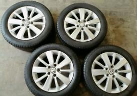 "16"" GENUINE VW GOLF MK6/7 ALLOY WHEELS & TYRES(5x112)"