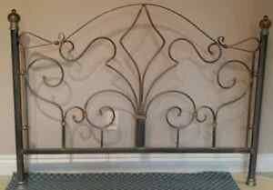 Pewter Double Bed - Head & Foot Frame West Island Greater Montréal image 3