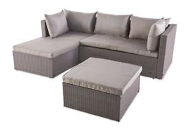 L Shaped Rattan Corner Sofa (NEW In Box)