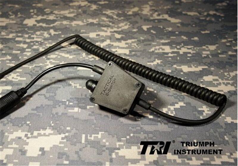 TRI PRC-152 148 E Type Switch PTT Tactical Standard Four-pole Headphone Holder