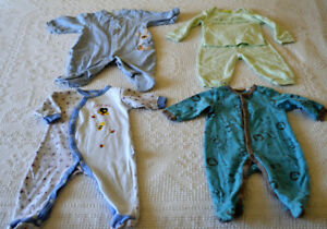 Size 3 - 6 months, lightweight sleepers for spring and summer