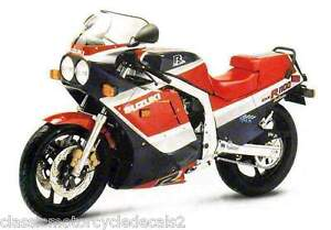 SUZUKI GSXR-1100G PAINTWORK RESTORATION DECAL SET 1986 RED/BLACK MODEL
