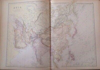 Asia 1882 Antique Map W.G. Blackie Atlas