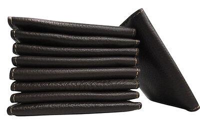 Leather Credit Card & ID Holder Slim Design Brown Men's Bifold Leather Wallet