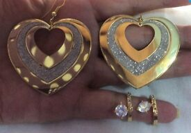 2 x PAIRS GOLD PLATED EARRINGS.