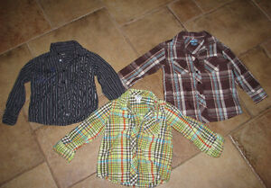 4T 5T set of 5 boys dressy casual button shirts sweater Mexx