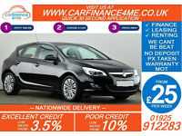2011 VAUXHALL ASTRA 1.6 EXCITE GOOD / BAD CREDIT CAR FINANCE FROM 25 P/WK