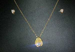 Pendant and Necklace, and Earrings