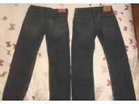 Two pairs of Levi Jeans - Mens
