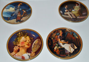 Norman Rockwell Plates, 4 Rediscovered Women Collection +1 Kitchener / Waterloo Kitchener Area image 1