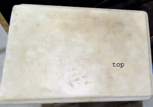 "marble slab - 18""x12.5""x1"" rectangle bevelled edge"
