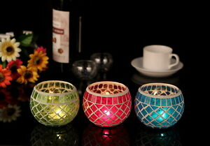 3-Colors-Glass-Mosaic-Votive-Tealight-Candle-Holders-Dinner-Wedding-Home-Decor