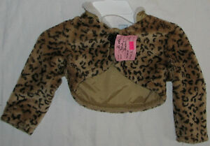 Size 24 Months Girls Short Fur Coat
