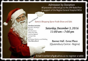 Second Annual Santa's Shopping Spree Trade Show and Sale Moose Jaw Regina Area image 1