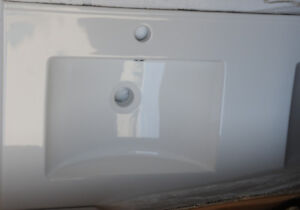 Bathroom Double White Porcelain  Sink Lows Imgimports