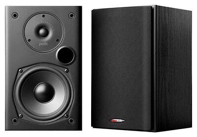 Polk Audio T15 BLACK 2 Way Bookshelf Speakers  PAIR  NEW