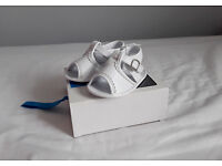 baby girl white leather sandals size 6-12m