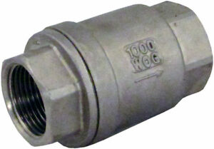 3-4-Stainless-Steel-Check-Valve-WOG-1000-Spring-Loaded-In-line-SS304-SUS304