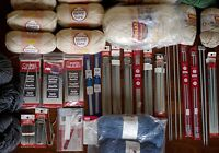 All of My Knitting Supplies & Stitch Dictionary