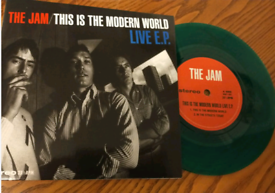 The jam this is the modern world green vinyl Ep mint