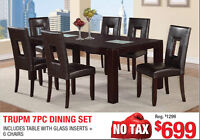 Trump 7pc Dining Set, $699 Tax Included!!!